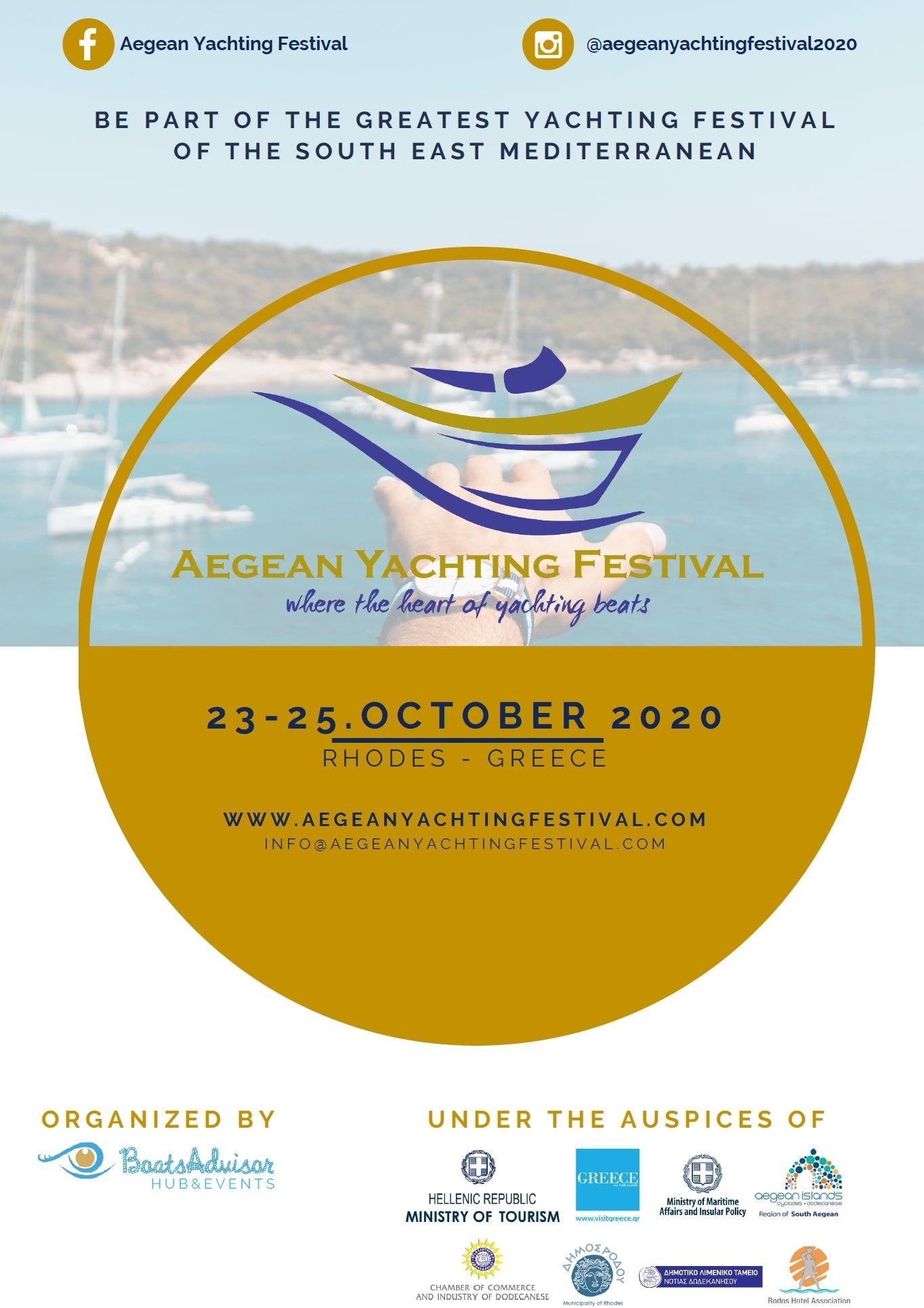 Aegean Yachting Festival: 23 – 25 October 2020 (Greece)