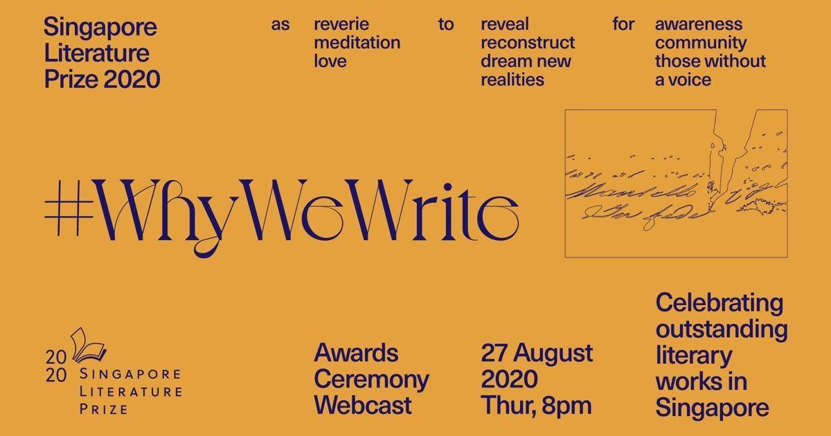 Singapore Literature Prize 2020 Virtual Awards Ceremony: 27 August 2020