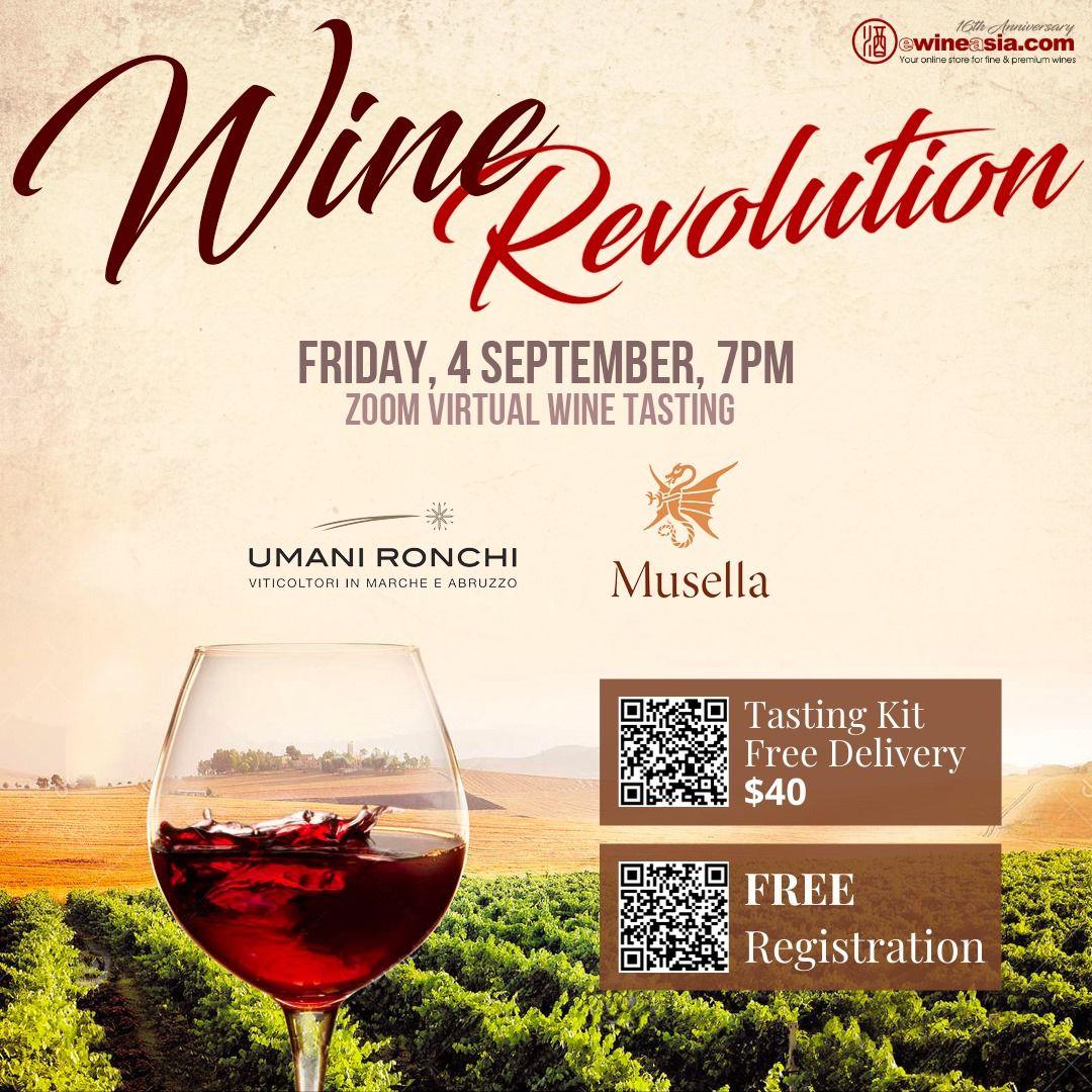 Wine Revolution – Online Masterclass Series: 4 September 2020