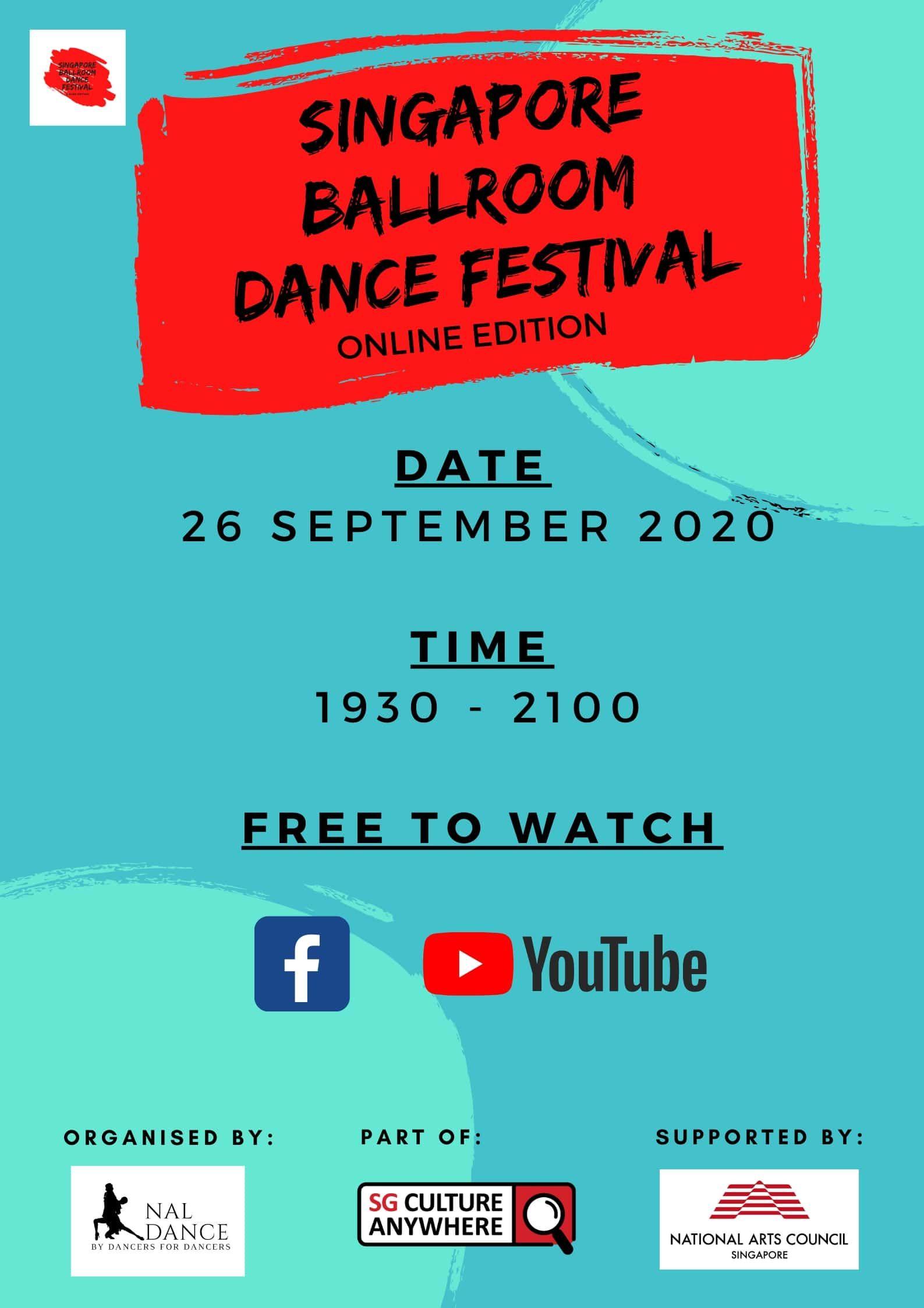 Singapore Ballroom Dance Festival: Online Edition – 26 September 2020