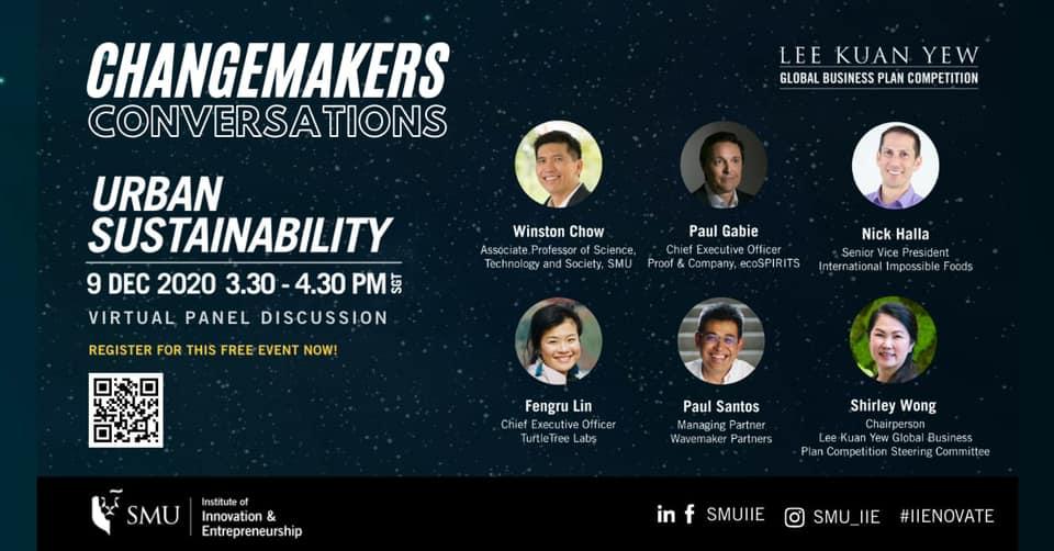 Changemakers Conversations: Urban Sustainability 9 Dec 2020 (Online)